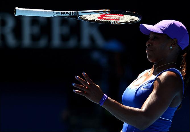 17-матчевая победная серия Серены Уильямс на Australian Open прервалась в понедельник, 23 января 2012 года.
