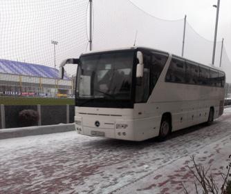 На тренировки сборная ездит на автобусе
