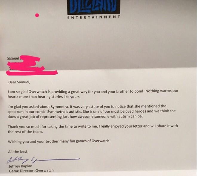 Вице-президент Blizzard Entertainment Джефф Каплан обратился к поклоннику игру с ответным письмом.