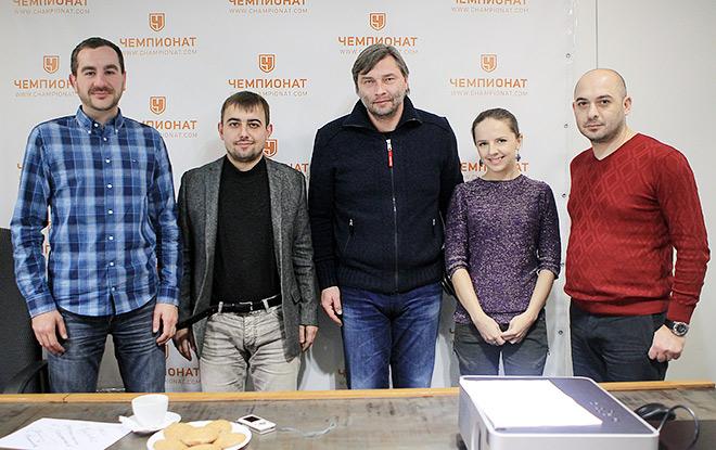 Сергей Овчинников и журналисты «Чемпионата»