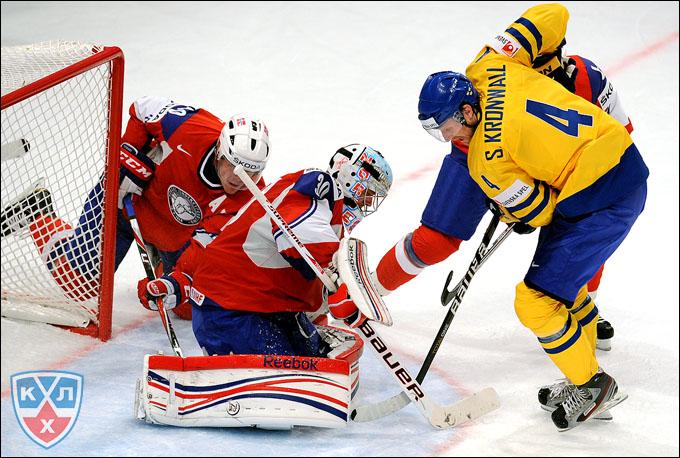 4 мая 2012 года. Стокгольм. Чемпионат мира. Групповой турнир. Швеция — Норвегия — 3:1