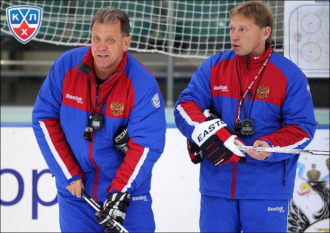 Михаил Варнаков-старший и Евгений Корешков