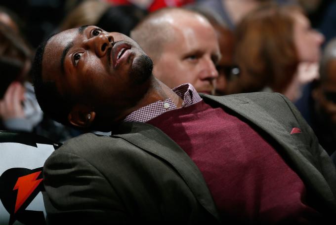 Реакция Джона Уолла на победный трёхочковый Кайла Корвера.
