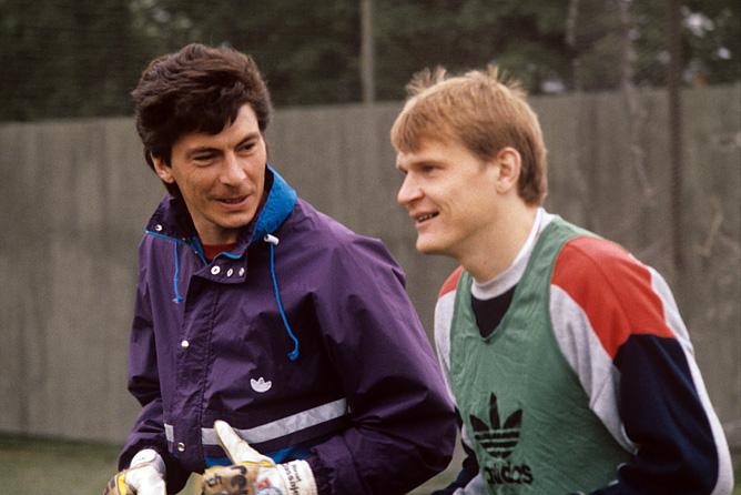 Сергей Горлукович и Ринат Дасаев в сборной СССР. 1990 год