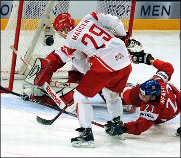 4 мая 2012 года. Стокгольм. Чемпионат мира. Групповой турнир. Чехия — Дания — 2:0