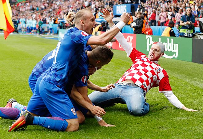 Болельщик сборной Хорватии