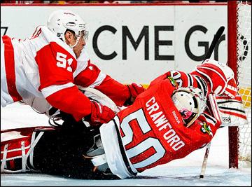 """18 мая 2013 года. Чикаго. Плей-офф НХЛ. 1/4 финала. Матч № 2. """"Чикаго"""" — """"Детройт"""" — 1:4. Валттери Филппула ставит окончательную точку в матче"""