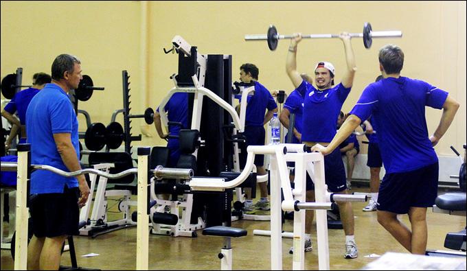 Алексей Ждахин на первой тренировке ТХК