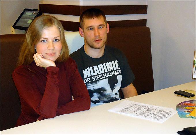 Алексей Широков с автором Елизоветой Алферьевой