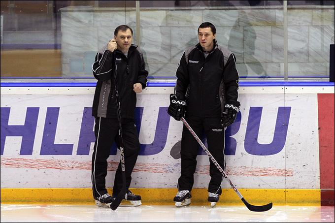 Евгений Галкин и Алексей Тертышный на тренировочном занятии