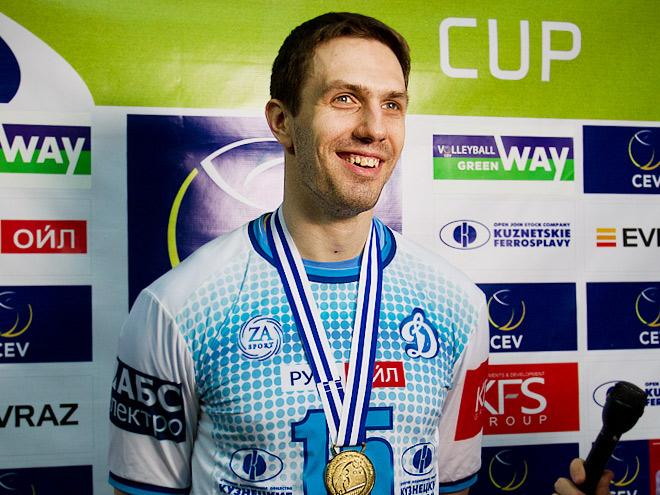 Павел Круглов после победы в Кубке ЕКВ в 2015 году