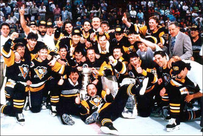 "Обладатели Кубка Стэнли 1991 года — ""Питтсбург Пингвинз""."