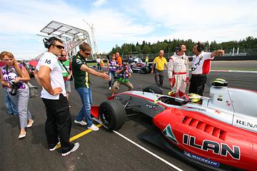 Максим Травин, Виталий Петров и Николай Марценко на Moscow Raceway в июле 2012-го
