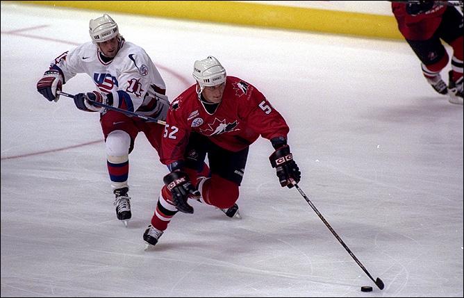 Адам Фут в сборной Канады на Кубке мира-1996