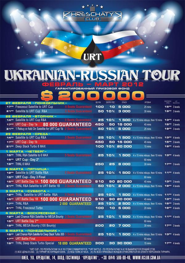 Расписание тура