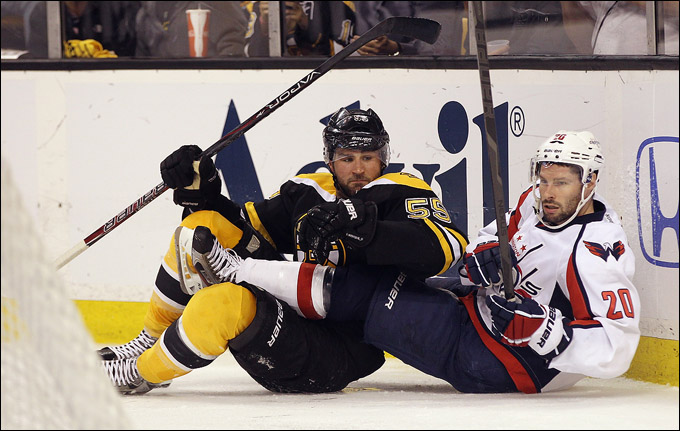"21 апреля 2012 года. Бостон. Плей-офф НХЛ. 1/8 финала. ""Бостон Брюинз"" — ""Вашингтон Кэпиталз"" — 3:4"