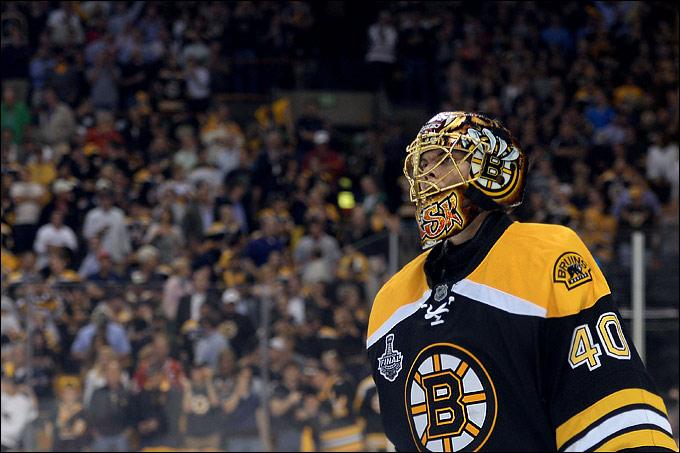 """18 июня 2013 года. Бостон. Плей-офф НХЛ. Финал. Матч № 3. """"Бостон"""" — """"Чикаго"""" — 2:0. Туукка Раск"""