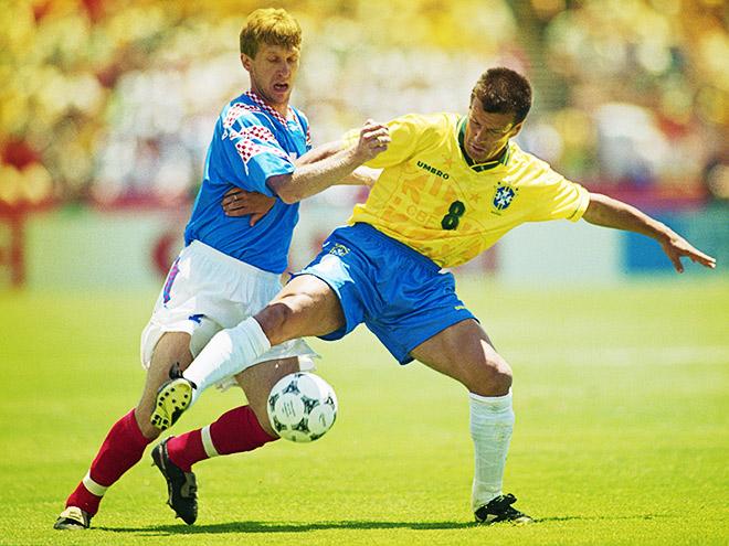 В первом матче на ЧМ-1994 сборная России проиграла Бразилии