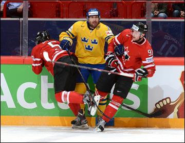 16 мая 2013 года. Стокгольм. Чемпионат мира. 1/4 финала. Канада — Швеция — 2:3 (ПБ)
