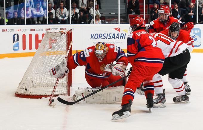 22 апреля 2014 года. Иматра. Юниорский чемпионат мира. Групповой этап. Канада — Россия — 2:3 (ПБ)