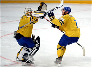 16 мая 2013 года. Стокгольм. Чемпионат мира. 1/4 финала. Канада — Швеция — 2:3 (ПБ). Решающий буллит отражен!