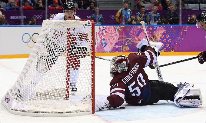 19 февраля 2014 года. Сочи. XXII зимние Олимпийские игры. Хоккей. 1/4 финала. Канада — Латвия — 2:1