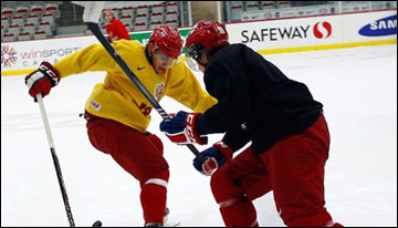 28 декабря 2011 года. Квебек. Тренировка сборной России