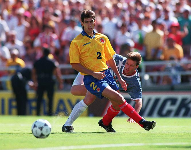 ЧМ-1994. Защитник сборной Колумбии Андрес Эскобар.