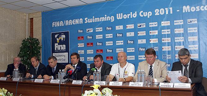Пресс-конференция, посвященная открытию московского этапа Кубка мира по плаванию на короткой воде