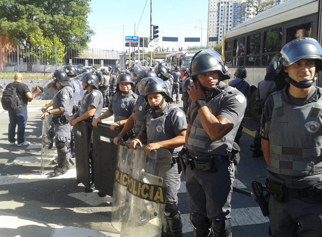 Демонстрация против проведения ЧМ-2014