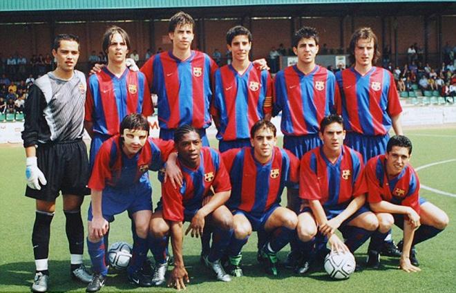 Лионель Месси в юношеской команде «Барселоны»