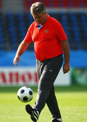 Главный тренер сборной России на Евро-2008 Гус Хиддинк