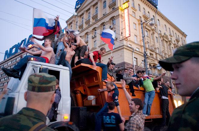 Евро-2008. Россия — Голландия. Москва после матча