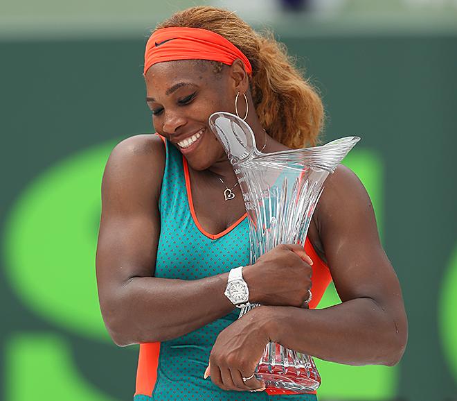 Серена Уильямс — рекордсменка Майами по числу титулов — 7 (2002-2004, 2007, 2008, 2013, 2014)