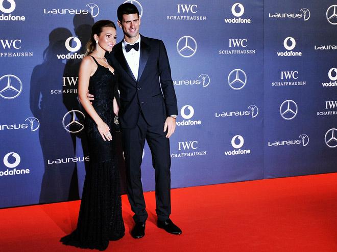Новак Джокович с будущей супругой