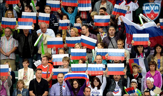 29 августа 2013 года. Санкт-Петербург. Еврохоккейтур. Чешские игры. Россия — Швеция — 2:0. Арена была заполнена на 100 процентов