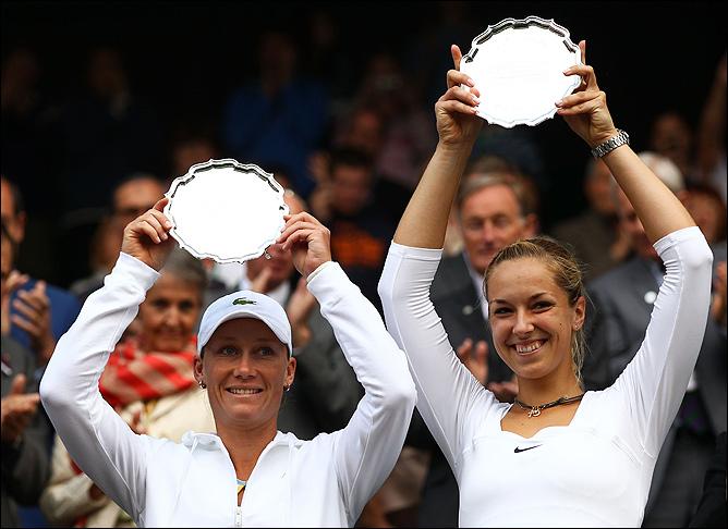 Проиграв в одиночном разряде, Сабина дошла до финала в паре