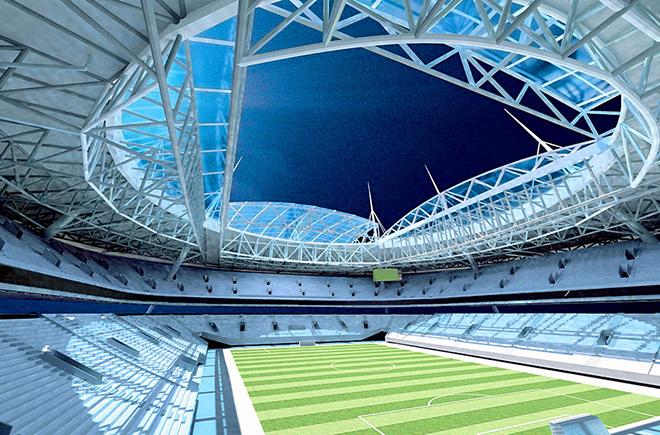 Новый стадион «Зенит» (Санкт-Петербург, Россия) Вместимость: 69 500 зрителей. Фундамент заложен: 2007 год. Заявка: на групповой раунд.