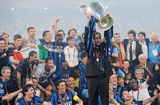«Интер» и Жозе Моуринью после финала Лиги чемпионов 2010 года
