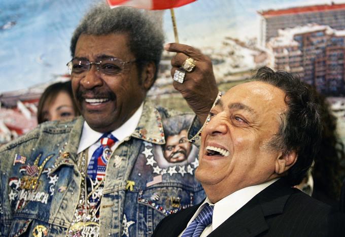 Одни из самых влиятельных людей в истории мирового профи-бокса: промоутер Дон Кинг и экс-президент WBC Хосе Сулейман.