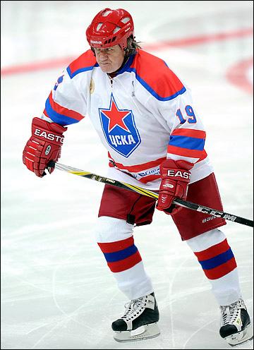 Юрий Блинов в матче ветеранов ЦСКА, 2011 год