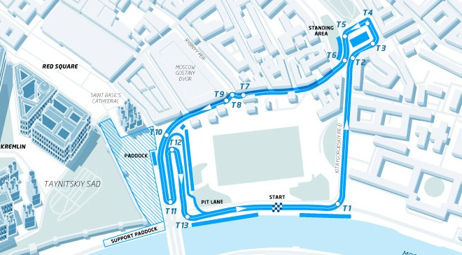Предварительная схема московской трассы