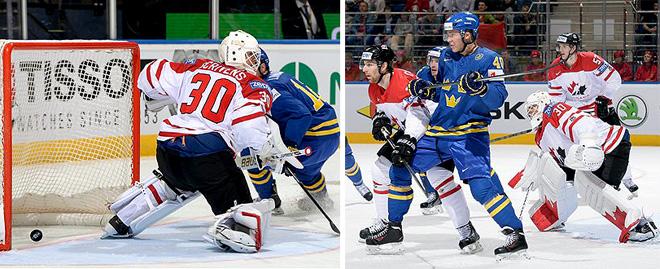 Фрагменты матча Канада — Швеция