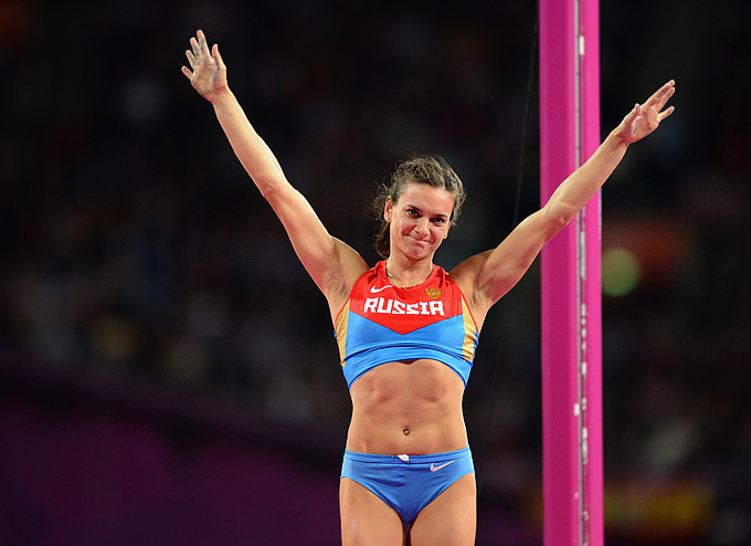 Елена Исинбаева — бронзовый призёр Олимпиады в Лондоне