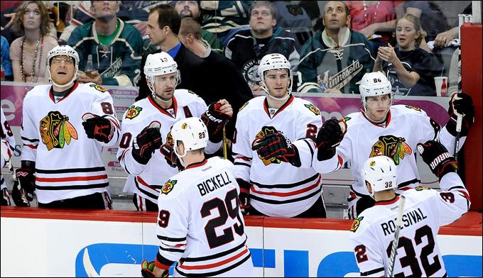 """7 мая 2013 года. Сент-Пол. Плей-офф НХЛ. 1/8 финала. Матч № 4. """"Миннесота"""" — """"Чикаго"""" — 0:3. """"Чикаго"""" ведёт в серии 3-1"""