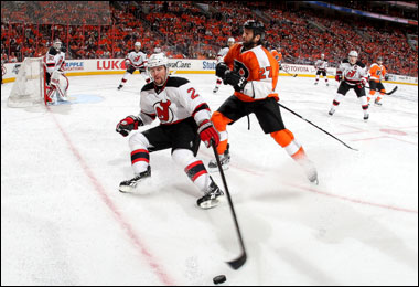 """30 апреля 2012 года. Филадельфия. Плей-офф НХЛ. 1/4 финала. """"Филадельфия Флайерз"""" — """"Нью-Джерси Девилз"""" — 4:3 (ОТ)"""