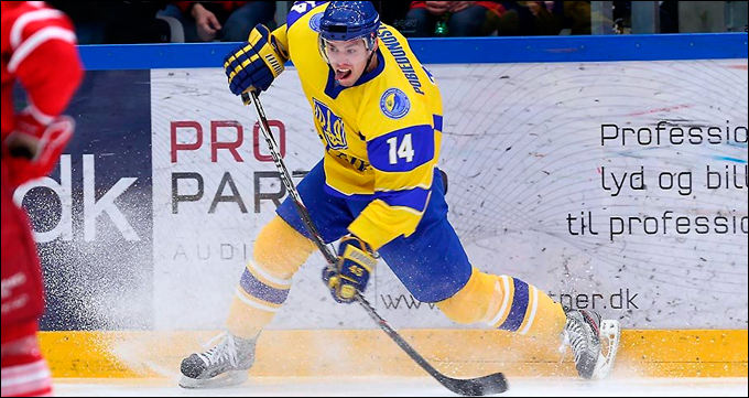 Дания — Украина — 2:0. В атаке Александр Победоносцев.