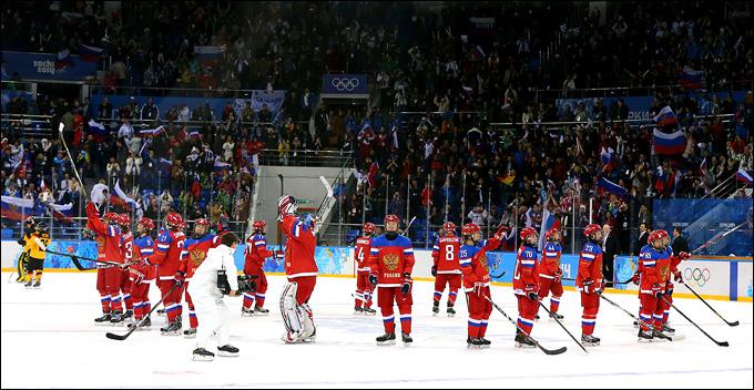 9 февраля 2014 года. Сочи. Хоккей. Женщины. Групповой турнир XXII Зимних Олимпийских игр. Россия — Германия — 4:1. Первая победа на льду Сочи