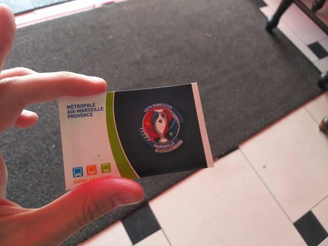 Билет в марсельском метро