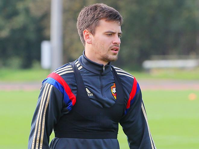 Георгий Щенников провёл первую тренировку в общей группе после травмы